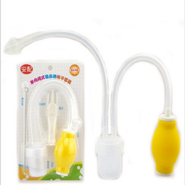Barato Aspirador Aspirador De Pó-2017 New Aspirador Nasal Aspirator Newborn Baby Safety Vacuum Suction Nose Cleaner + Medical Tweezers Infant Snot Sucker Care