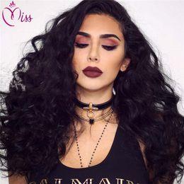 Deep Curly Indian Lace Wig Australia - Soft Brazilian Loose Deep Curly Glueless Full Lace Human Hair Wigs 7A Brazilian Loose WaveLace Front Human Hair Wigs