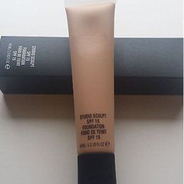 block brown Australia - Stocking !! top Quanlity NEW brand professional makeup 40ml STUDIO Foundation SCULPT SPF 15 FOUNDATION FOND DE TEINT SPF 15 free shipping