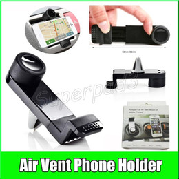 Wholesale Mini Universal Portable Car Air Vent Mount Adjustable Degree Roteteble Cradle Holder For Smart Phone PDS GPS Camera Recoder Retail Box