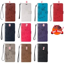 Discount huawei honor wallet cases Flower Butterfly Wallet Leather Pouch Case For HTC Desire 826 Huawei Ascend P9 Plus V8 Honor 5C Y6 PRO Y3 Y5 II 2 Strap