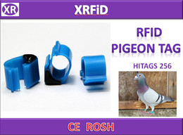 Pigeon Rings Canada - Hitags256 rfid pigeon ring tag Dia 10mm 134.2khz ABS pigeon tag blank format 500pcs lot Free Ship