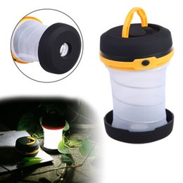 mini camping lanterns 2019 - Portable Outdoor Lighting Foldable Mini LED Camping Lamp Lantern Tent Lamp Fishing Hiking Lamp Light with Hanger cheap m