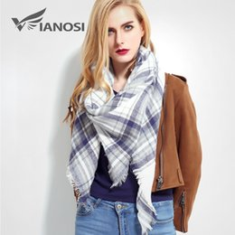 Acrylic Unisex Scarves NZ - Top quality Winter Scarf Plaid Scarf Designer Unisex Acrylic Basic Shawls Women's Scarves hot sale VS50