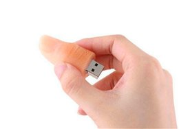 $enCountryForm.capitalKeyWord NZ - New 32GB 64GB 128GB 256GB Funny Cartoon Human Finger Model USB 2.0 Flash Memory Stick Pen Drive High Qualtiy