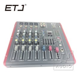 mixer brands NZ - ETJ Brand 16 DSP 4 Channel Ultra Low Noise Bluetooth Audio Mixer 48V Phantom Power Supply AG06