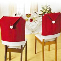 $enCountryForm.capitalKeyWord Canada - Hot Sale 4 pcs 2015 New Fashion Santa Clause Red Hat Chair Back Cover Christmas Dinner Table Party Decor For Christmas E5M1 order<$18no trac