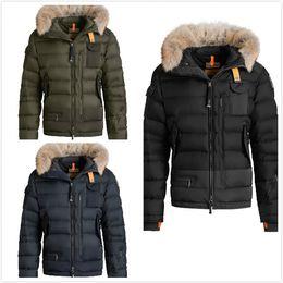 3bd1686015 2017 Men s Thin light Brand Down jacket WINTER PJS-SKIM Down   Parkas Big  coyote Fur Collar White goose down Outerwear   Coats WITH FUR HOOD