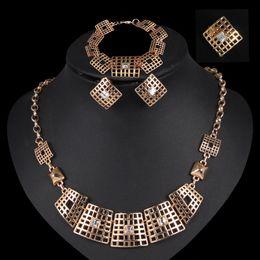 $enCountryForm.capitalKeyWord Canada - luxury mosaic crystal Jewelry Set Necklace Earrings Bracelet Ring Sets For wedding bridal party Jewelry CA154