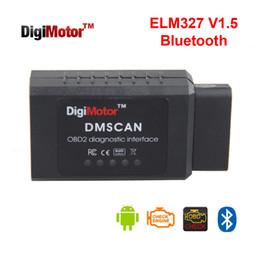 Discount elm car diagnostic - Wholesale-Digimotor Original ELM327 V1.5 Bluetooth OBD2 2016 ELM 327 V 1.5 OBDII Code Reader Diagnostic Tool Mini Scanne