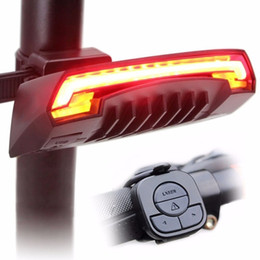 $enCountryForm.capitalKeyWord NZ - USB Chargeable Cycling Smart Bicycle Light Bike Rear Remote Wireless Light Turn Signal LED Tail Light Laser Beam