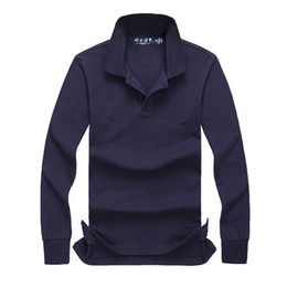 Wholesale polo long sleeved for sale - Group buy autumn and winter new high quality men s fashion long sleeved POLO shirt casual men s POLO shirt Long sleeves size S XXL