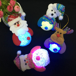 Christmas Decorations Striped Canada - Christmas decorations light with light Snowman Nightlight tree Christmas holiday gifts gifts for children