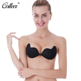 f3ca973bd4 COLLEER Sexy BH Super Push Up Bra Silicone Lace Bralette Plus Size Bra  Invisible Backless Strapless Bras For Women Underwear