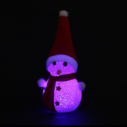 Chocolate Gifts Christmas Canada - Christmas decorations LED flashing luminous Christmas Snowman children Christmas gifts