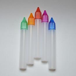 needle shaped pens 2019 - Empty E Liquid Bottle 15ml Plastic Needle Bottle with Colorful Cap Empty Pen Shape Dropper Bottle cheap needle shaped pe
