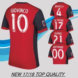 6ad5018e7 ... football 17 18 Toronto FC home Soccer Jersey GIOVINCO BRADLEY ALTIDORE  OSORIO Red Soccer Shirt Customized MLS ...