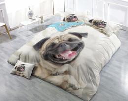 $enCountryForm.capitalKeyWord NZ - Custom Drawings Can be Customized 3D Pug dog Giggle Cotton Satin 4-Piece Duvet Cover Sets Bedding Sets
