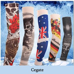 arm sleeve covers women Canada - Arm Covers Nylon Fake Temporary Tattoo Sleeve Arm Stocking Tatoo Warmer New Arrival Vogue For Men Women