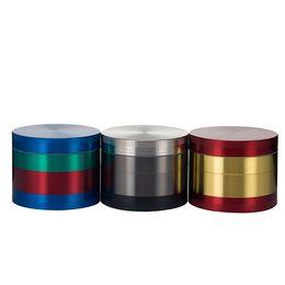 $enCountryForm.capitalKeyWord NZ - Top quality colorful 55*45mm 4 Parts Zinc Alloy Herb Grinder Smoking Herbal Smoking Grinders 4 parts Chromium Crusher colored grinder