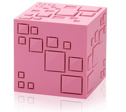 Plastic Lighted Cube UK - New Magic Cube Wireless Bluetooth Speaker With LED Flash light Support SD Card Portable 2 generation Q Plus Bluetooth Speaker Bass
