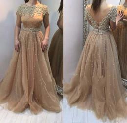 Discount Line Full Sleeve Bateau Prom Dress | 2017 Line Full ...