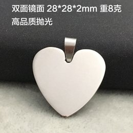 $enCountryForm.capitalKeyWord Canada - New hot sale Heart Round shape Engravable Stainless Steel Dog Tag Military Shape Men Fashion Pendants for boys without chain