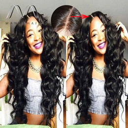 Women Small Hairs Canada - wholesale silk top full lace wig indian human hair lace wigs for black women