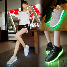 Discount neon shoes for women - 2016 Women Colorful glowing shoes with lights up led luminous shoes a new simulation sole led shoes for adults neon casu