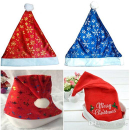 Free Christmas Gifts For Children Australia - Christmas Hat Pleuche fabrics hats Santa Caps Santa Claus hat Christmas Cosplay Hats For Adults and Children gift Free DHL FedEx