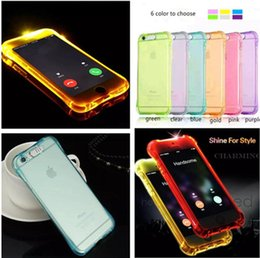 $enCountryForm.capitalKeyWord Australia - LED TPU Flash Light Up Case Remind Incoming Call lighting case for iPhone X 8 7 6 6S Plus Samsung S8 plus S7 S6 Edge Clear Transparent Skin