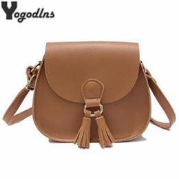 Vintage saddles online shopping - 2017 New Arrival Women Handbags Fashion Designer Small Bag Saddle Shoulder Bags Girls Crossbody Bag Vintage Tassel Bags