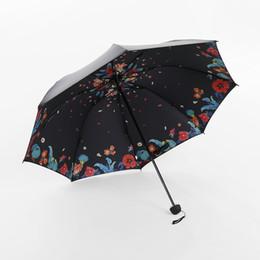 Chinese  Hot Sell Windproof Reverse Folding Double Layer 3D Printed Sunny Umbrella Vinyl Anti-UV Umbrella Lady Sun Umbrella manufacturers