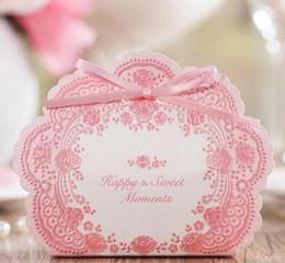 sugar paper 2019 - NEW romantic European style Hollow out PINK Wedding box Candy Box gift box wedding bonbonniere wedding favour boxes Suga