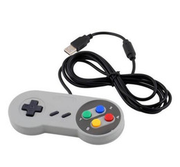 China 10 pcs Wholesale- Retro Gaming for SNES USB Wired Classic GamePad Joystick Controller For Windows PC Six digital buttons cheap usb wired controller pc suppliers