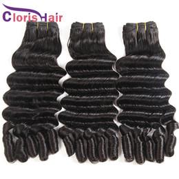 amazing hair weave 2019 - Amazing Textures Raw Indian Virgin Hair 3 Bundles Aunty Funmi Bouncy Romance Curls Human Hair Extensions Double Drawn Ni