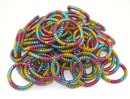 $enCountryForm.capitalKeyWord UK - 100Pcs Lot 5cm Women Ladies Girls New Black Elastic Rubber Telephone Wire Style Hair Ties Plastic Rope Hair Band Accessories