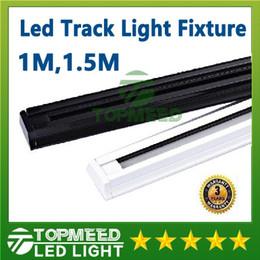 Venta al por mayor de CE RoHS 1M 1.5M Espesar Luminaria de riel led 85v-265V Tracklights Luz de riel blanca negra Conector de luminaria de proyector 3 años 10