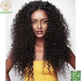 $enCountryForm.capitalKeyWord Canada - Loose Deep Wave Lace Front Wig Indian Human Hair Full Lace Curly Glueless Wig For Black Women