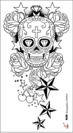 Discount star designs for tattoos 2017 star designs for tattoos discount star designs for tattoos temporary large arm tattoo stickers skull star designs high quality for urmus Gallery