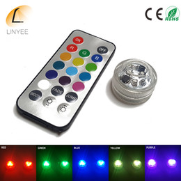 Lighted Bong NZ - LED Lights for Party, 3 LED Submersible Lights for Wedding Hookah Shisha Bong Decor, Remote Control Tealight Candle light Waterproof RGB
