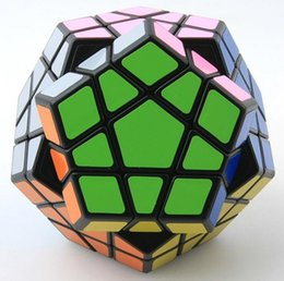 Chinese  Shengshou Megaminx Magic Cubes Pentagon 12 Sides Gigaminx PVC Sticker Dodecahedron Toy Puzzle Twist manufacturers