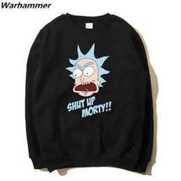 $enCountryForm.capitalKeyWord Canada - 2017 Arrival Rick And Morty Hoodies Men American Comics Fans Flecce Cotton Sweat Homme Full Sleeve O-neck Black Navy Blue 2XL Casual Hoodies