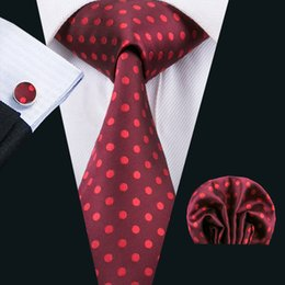 Woven Silk Ties Cufflinks Australia - Classic Silk Men Neck Tie Black Mens Neckties Dot Tie SetTie Hankerchief Cufflinks Sets Jacquard Woven Meeting Business Wedding Party N-1521