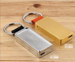 $enCountryForm.capitalKeyWord Australia - New Key Chain keychain metal usb Cable electronic windproof cigarette lighter with gift box Smoking Tools Accessories 2 colors