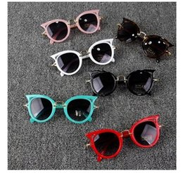 $enCountryForm.capitalKeyWord NZ - 2017Uv400 Vintage Kids Sunglasses Cat Eye Girls Children Sun glasses Polarized High Quality Glasses Brand Designer