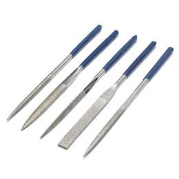 5pcs 180mm Emery Rasp Diamond Files Utensile per il taglio di coltelli in ceramica in Offerta
