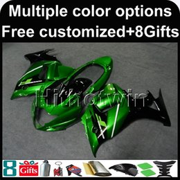 Plastic Katana Canada - 23colors+8Gifts GREEN motorcycle cowl for Suzuki GSX650F 2008-2010 08 09 10 GSX650F 2008 2009 2010 ABS Plastic Fairing
