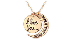 $enCountryForm.capitalKeyWord UK - Fashion Moon Sun Necklace Jewelry High Quality Alloy Pendant Necklaces Cheap Jewelry For Women Best Gift 2 colors 20pcs min order 31Q58