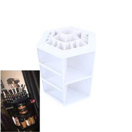 Box Jewelry Storage Organizer Black Australia - 1Pcs New Style 360-degree Makeup Organizer Box Brush Holder Jewelry Organizer Case Makeup Cosmetic Storage Box